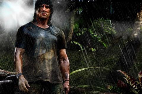 """Sylvester Stallone nei panni di """"Rambo"""""""