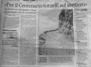 Articolo su l'Adige del 13 settembre 2014